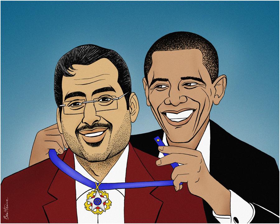 Al-Zaidi Awarded by Obama by BenHeine