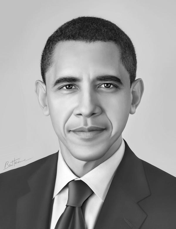 Barack obama portrait 1 by benheine