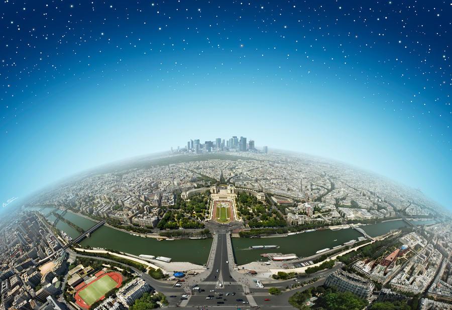 Paris from the Eiffel Tower by BenHeine