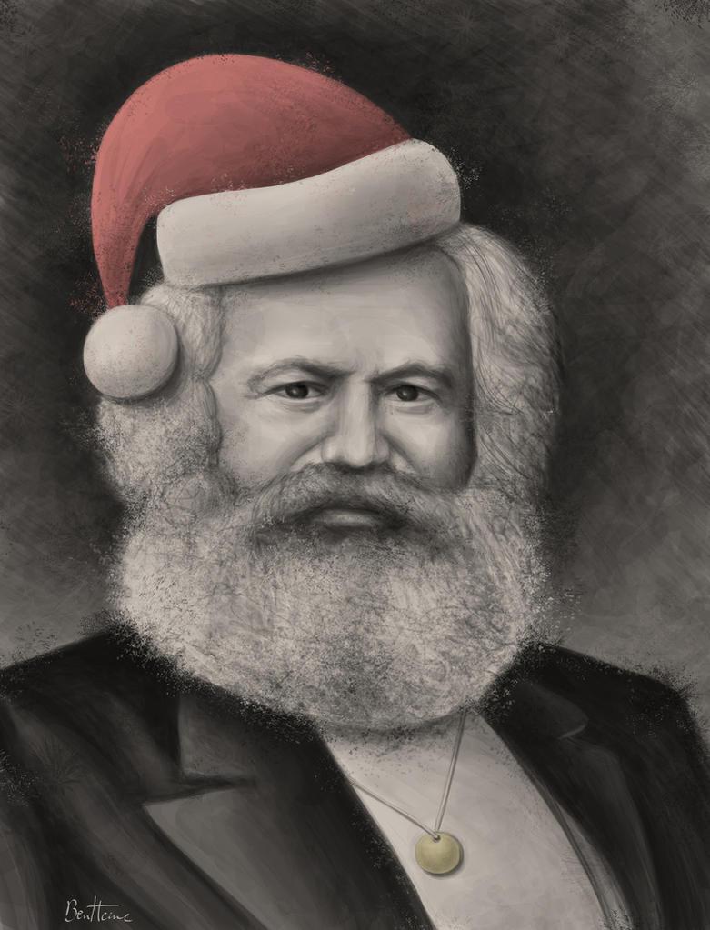 Karl Marx - Merry Christmas by BenHeine
