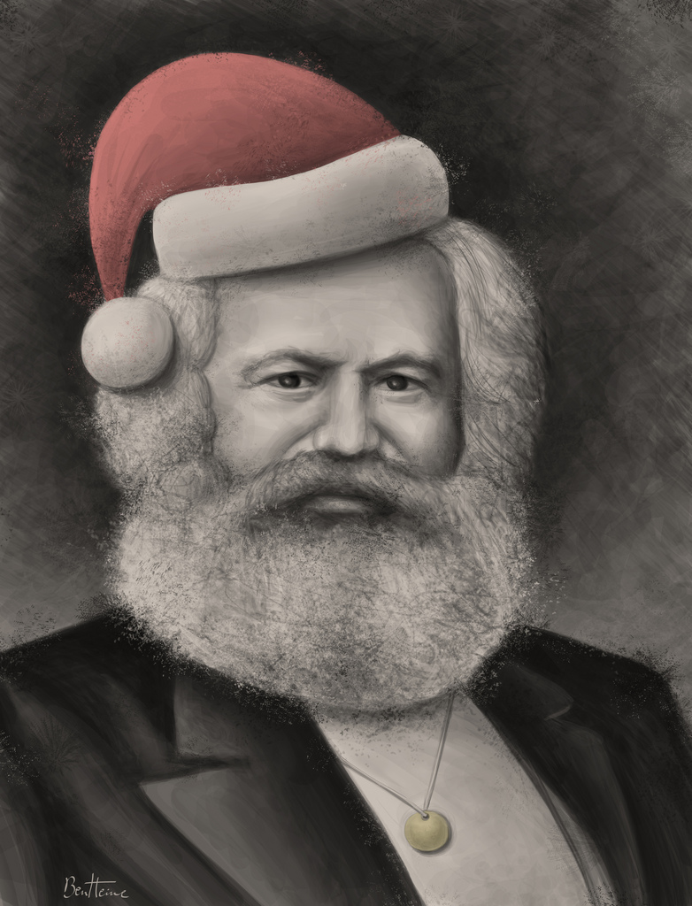 Karl Marx - Merry Christmas by BenHeine
