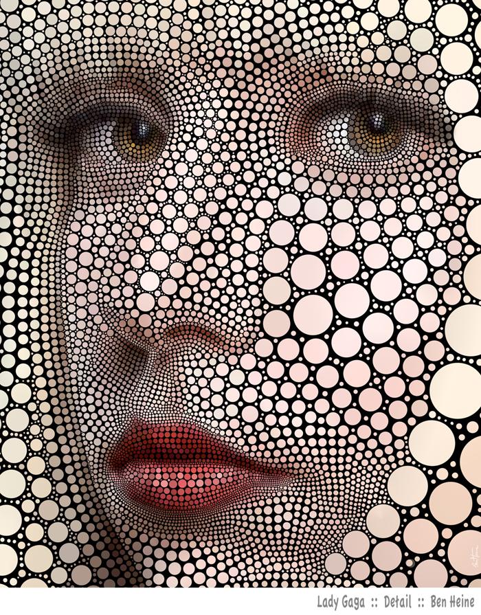 Lady Gaga - Detail Head by BenHeine