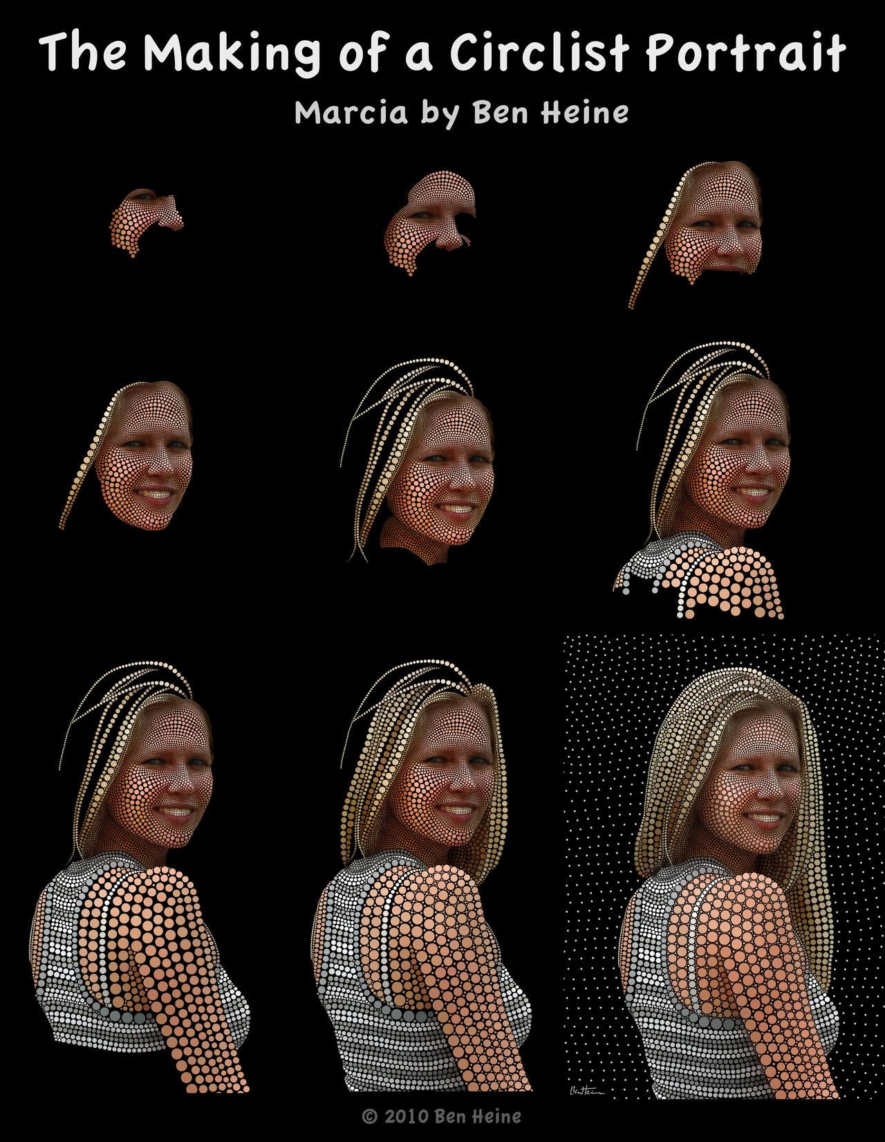 Making of She is My Mona Lisa by BenHeine