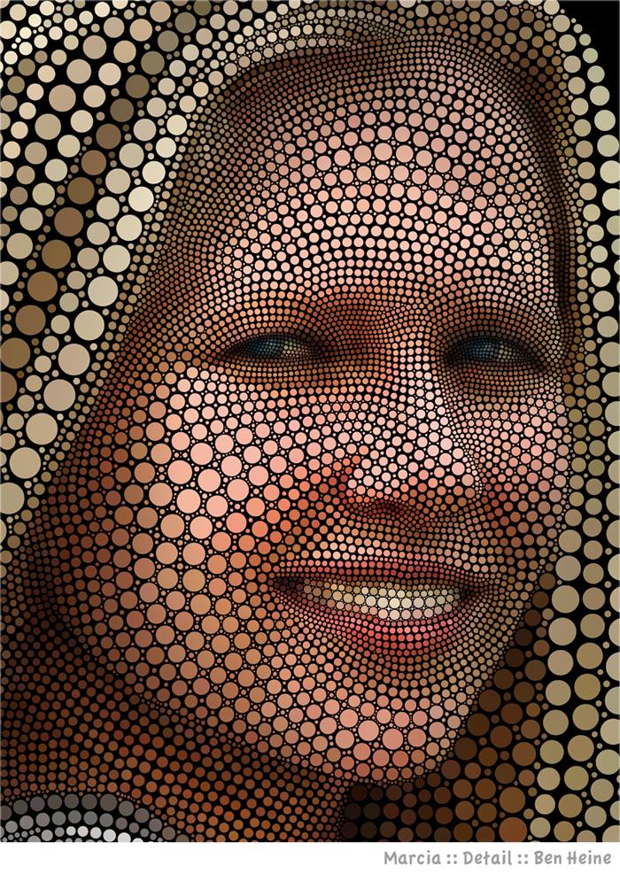 She is My Mona Lisa - Detail by BenHeine