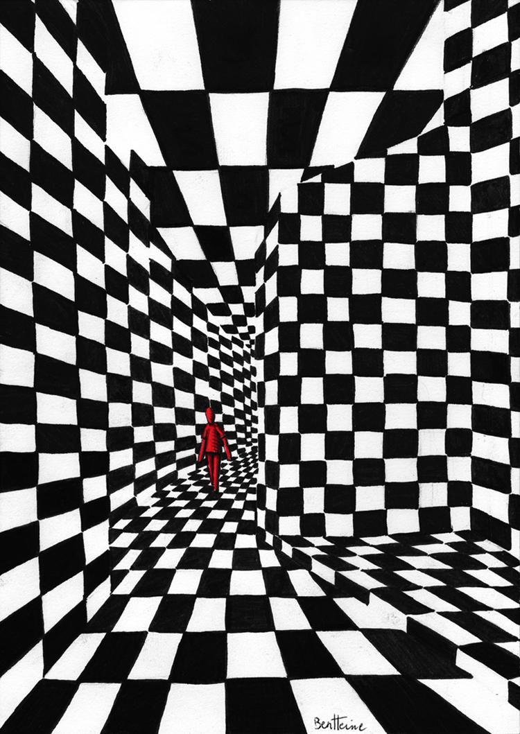 Chess Art - 1 by BenHeine