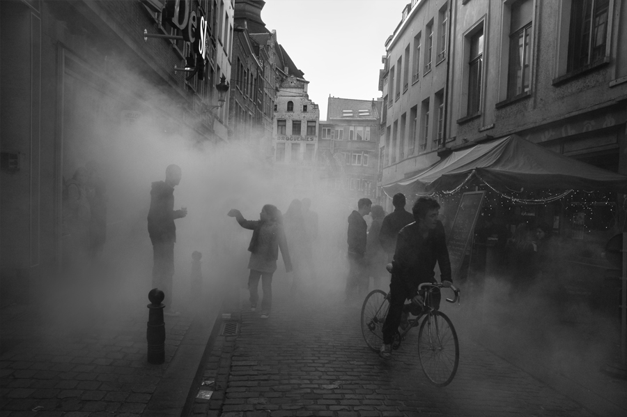 Foggy Day in Brussels