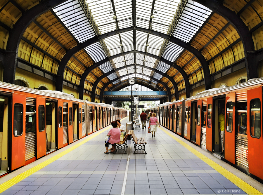 Piraeus Underground Station by BenHeine