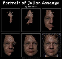 Making of - Julian Assange by BenHeine