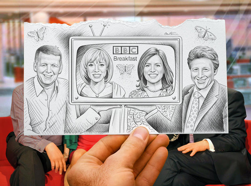 Pencil Vs Camera-BBC Breakfast by BenHeine