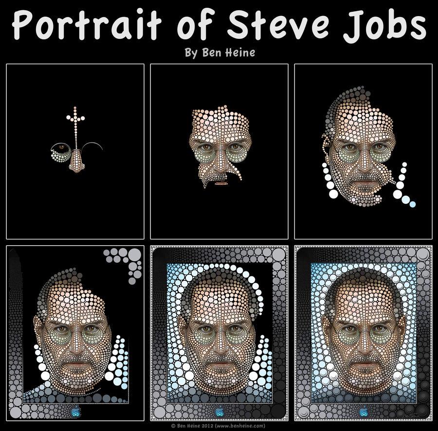 Work in Progress - Steve Jobs by BenHeine