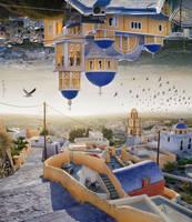 Santorini - Double Landscape by BenHeine