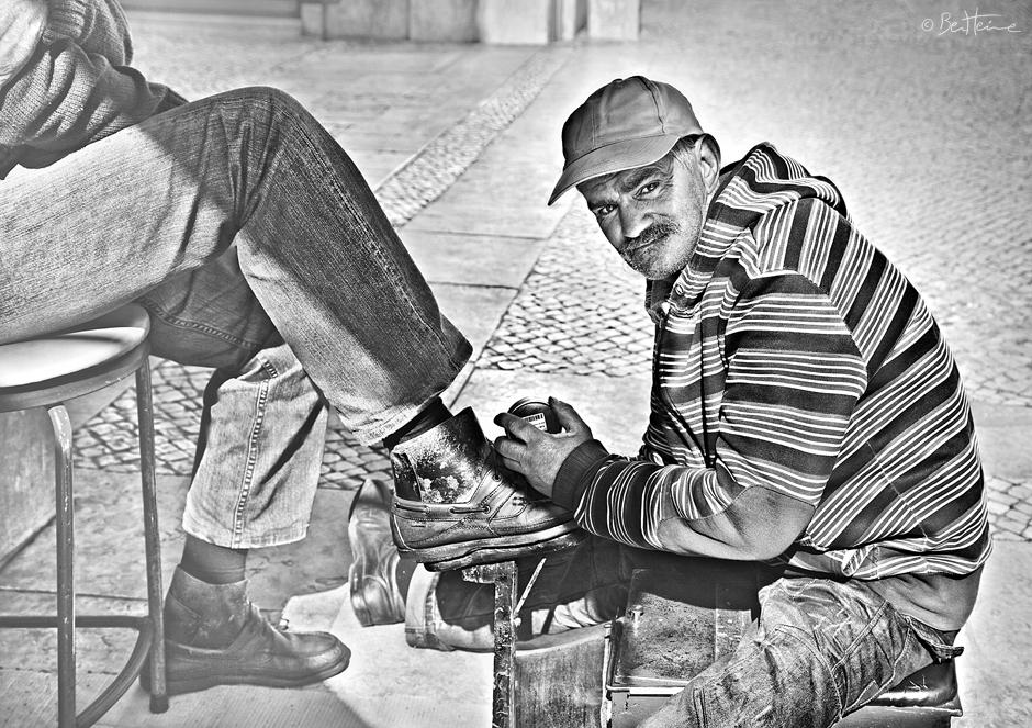Shoeshine Man by BenHeine