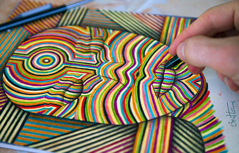 Lines - Colors - Woman - Music by BenHeine