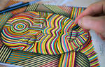 Lines - Colors - Woman - Music