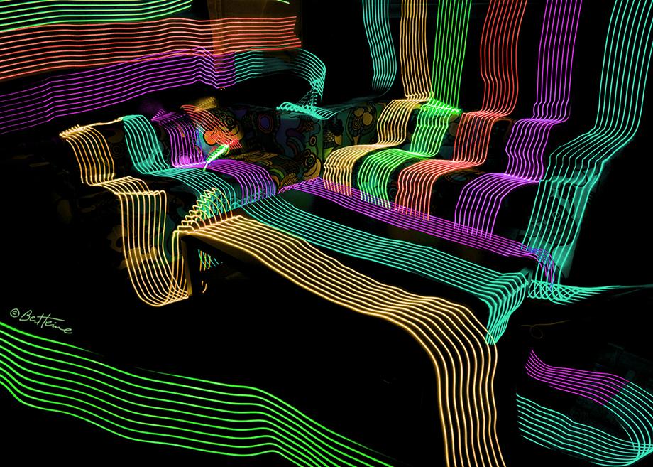 Led Lights in My Studio - 2 by BenHeine