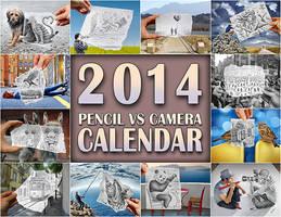2014 Calendar - Pencil Vs Camera by BenHeine