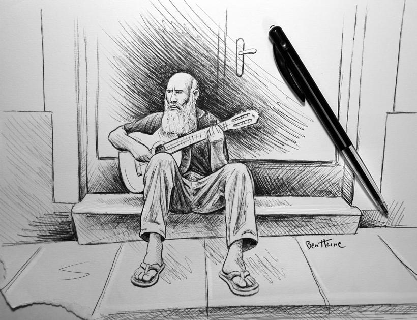 Old Guitar Player by BenHeine on DeviantArt