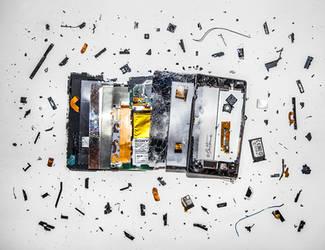 Broken Smartphone by BenHeine