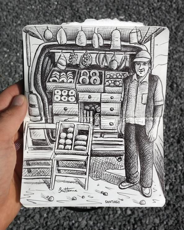 Man Selling Biscuits by BenHeine