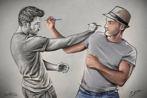 Sketch Fight (Pencil Vs Camera - 79) by BenHeine