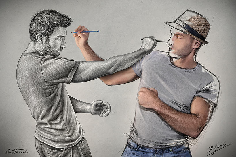 Sketch Fight (Pencil Vs Camera - 79)