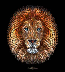 Lion - Digital Circlism by BenHeine