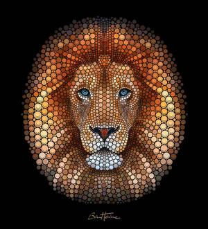 Lion - Digital Circlism