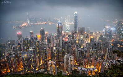 Hong Kong from the Peak by BenHeine
