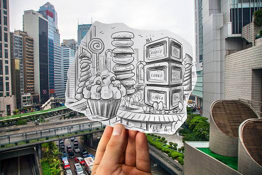 Pencil Vs Camera (Study in Hong Kong) by BenHeine