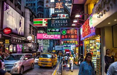 Street in Hong Kong by BenHeine