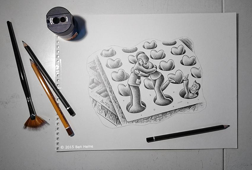 Sketch in Progress (Pencil Vs Camera - 82) by BenHeine