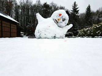 Snowman's last breath... by BenHeine