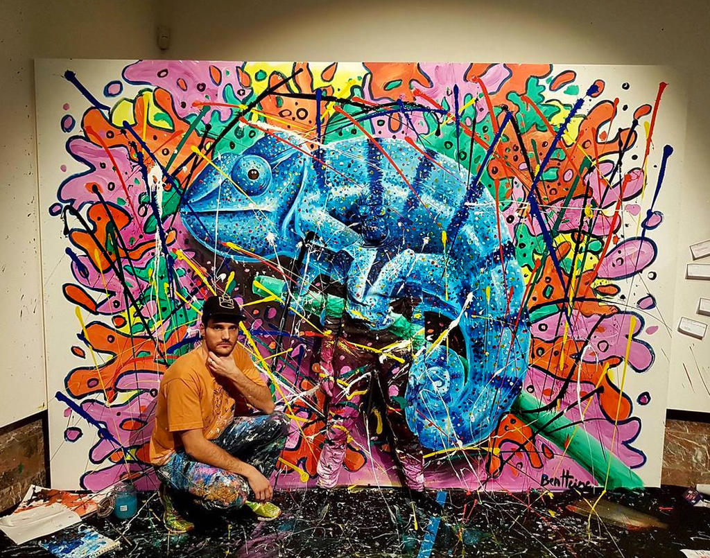 Ben Heine Art - Flesh And Acrylic - Chameleon