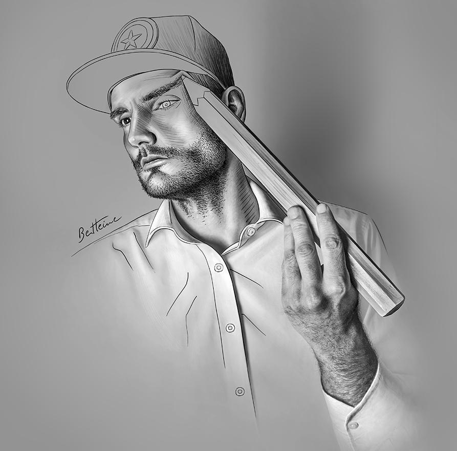 Self Portrait  t by BenHeine