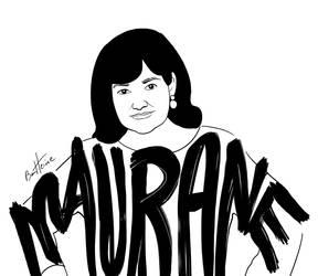 Portrait de la Chanteuse Belge Maurane