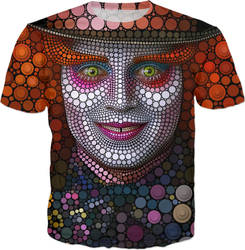 Mad Hatter - Digital Circlism T-shirt by BenHeine