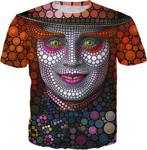 Mad Hatter - Digital Circlism T-shirt