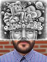 Pencil Vs Camera - Human Big Bang - Self Portrait