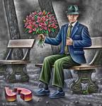 Romantic lover - Ben Heine Art