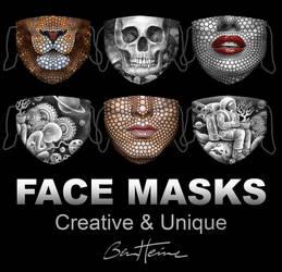 Buy Creative Face Masks by Ben Heine