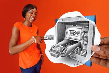 Pencil Vs Camera - Trust Merchant Bank ATM
