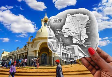 Pencil Vs Camera - TMB Congo Map - Ben Heine Art