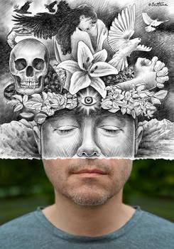 Pencil Vs Camera - Otherness Portrait of Dominique