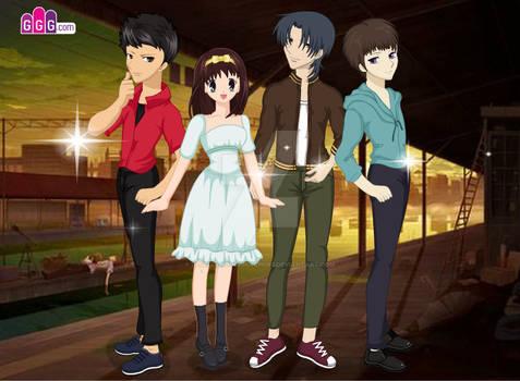 Charile, Maya, Itachi Jr and Seto