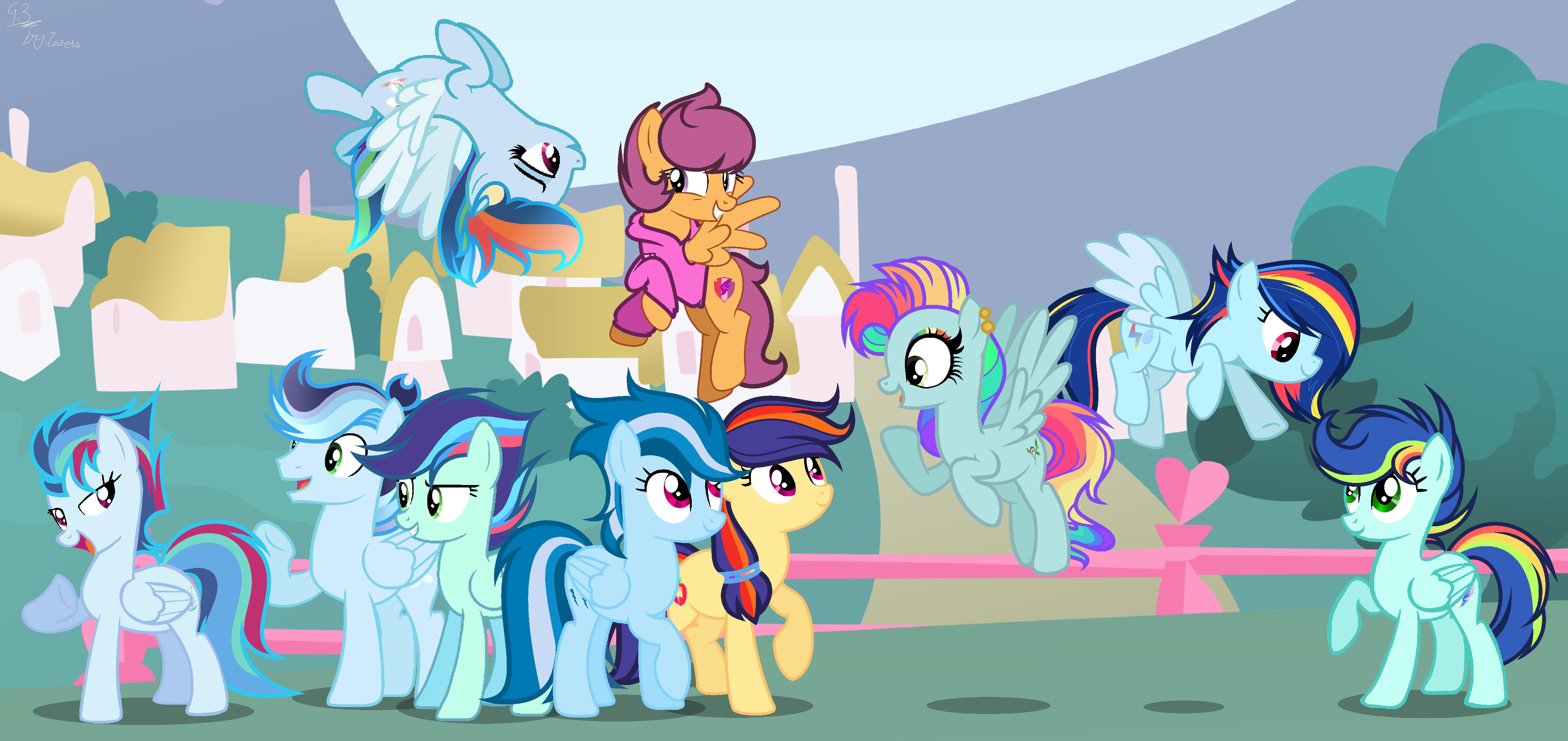 Next Gen Rainbow Dash S Kids Except Scootaloo By Whiteplumage233 On Deviantart Rainbow dash and scootaloo walk out. next gen rainbow dash s kids except