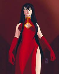 [OC] Kisara A. in red