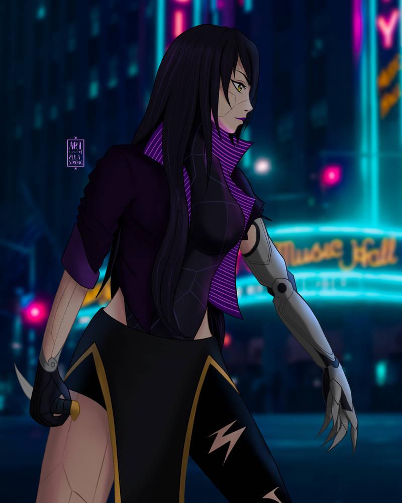 OC: Cyberpunk Kisara A.
