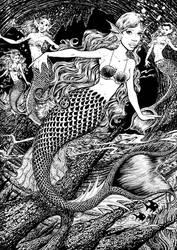 Mermaids by DavidAyala