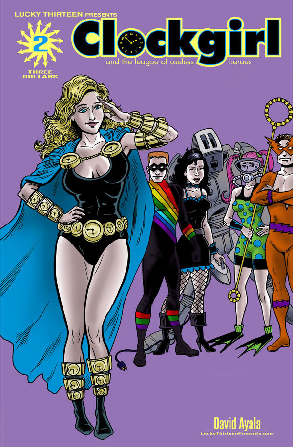 Clockgirl Issue 2 - cover by DavidAyala