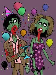 Zombie Party by DavidAyala